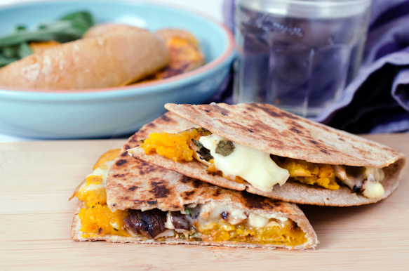 Butternut and Brie Quesadillas
