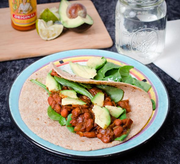 Vegetarian BBQ Tacos