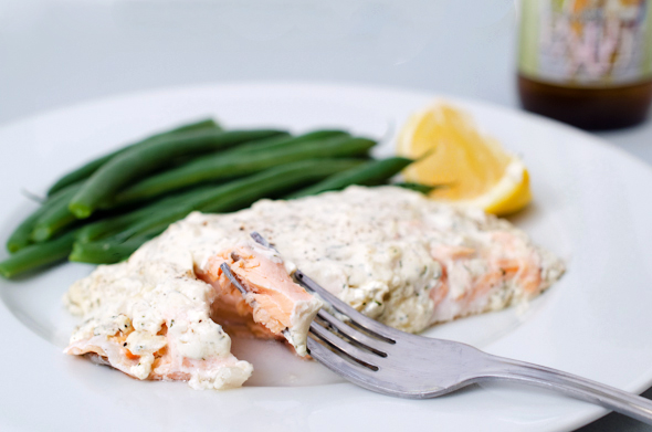 Salmon with Creamy Dijon Dill Sauce